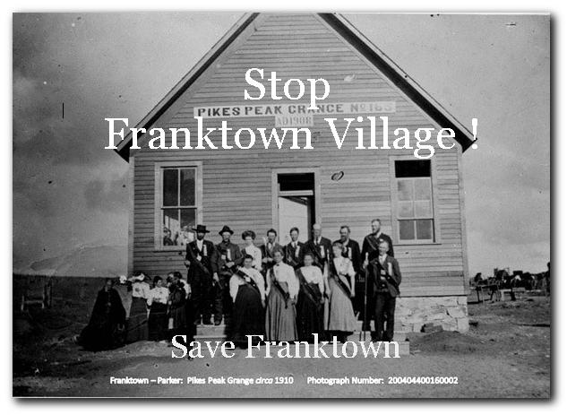 Franktown Village PD Update(s)