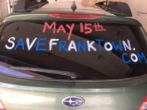 May 15 SaveFranktown